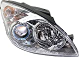 Garage-Pro Headlight Compatible with HYUNDAI ELANTRA 2009-2012 RH Assembly Halogen Clear Lens Black Interior Touring Models