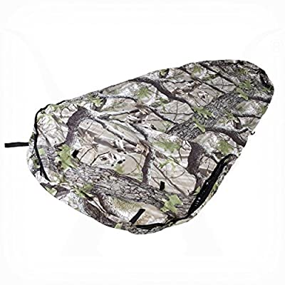 KHAMPA Bivy Sleeping Bag Sack and Tent, Emergency Camping, Breathable Personal Shelter, Lightweight, Drawstring Bag, Water-Resistant, Taped Seams, Mosquito Netting, 24 oz (Camo)