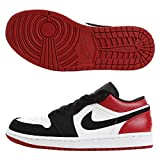 Nike Air Jordan 1 Low, Zapatos de Baloncesto Hombre, Blanco White Black Gym Red 116, 45.5 EU