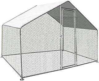 IDMarket - Enclos poulailler 3 M² Parc grillagé 2.20x1.4M Acier galvanisé