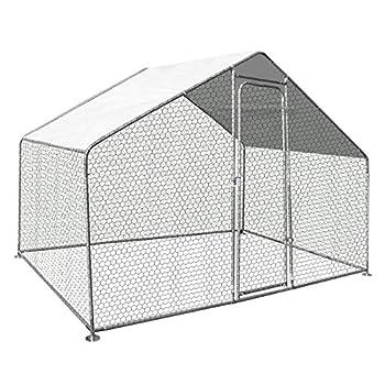 Conçu et pensé par des éleveurs pro : enclos robuste en acier galvanisé d'une surface de 3m². Ce parc grillagé (mailles 25 x 25 mm) offre un espace bien fermé pour protéger vos volailles Pratique avec sa porte à fermeture par loquet, c'est l'habitat ...
