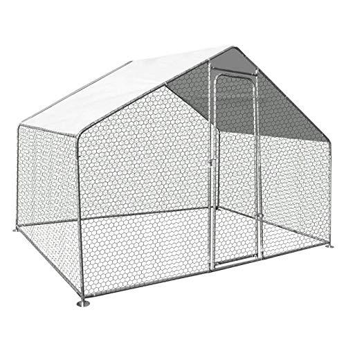 IDMarket - Enclos poulailler 3 M² Parc grillagé 2.20 x 1.4M Acier galvanisé