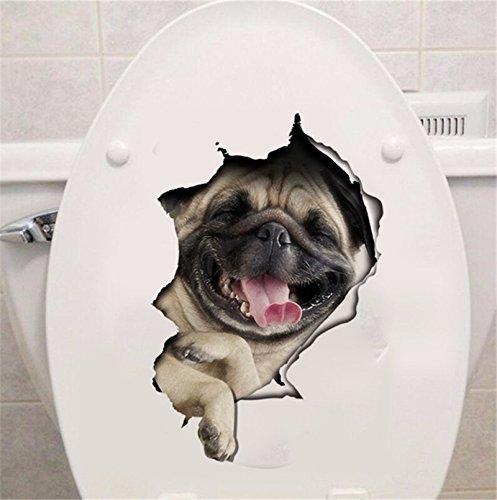 -Homeworld- Großer Hunde-Aufkleber mit 3D Effekt, 27x18cm, Perfekt für WC Toilettendeckel, Den Kühlschrank und Verschiedene Weiße Möbel. Tolles Geschenk für Hundeliebhaber! #18
