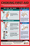 Safety Choking Victim Poster Measures 12' x 18', Choking First Aid Poster for Infants, Kids, Pregnants, and Adults, First Aid Guide Quick Reference Guide, Laminated