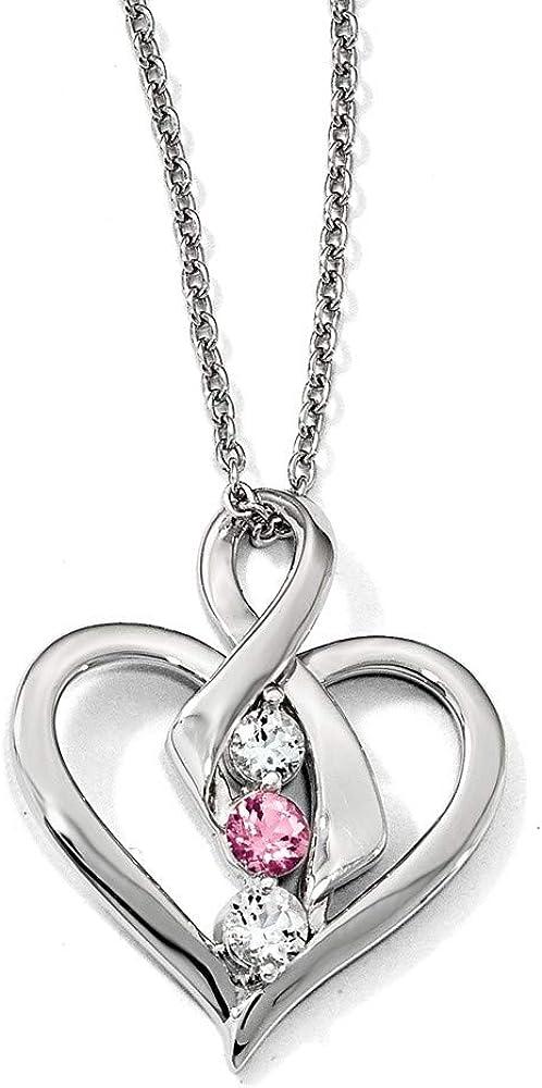 925 Sterling Max 45% OFF Silver Survivor Clear Swarovski Pink Minneapolis Mall Topaz Heather