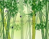 Bdhnmx-Wandbild Tapete 3D Wohnzimmer Natürliche Bambus Landschaftsbilder TV Kulissen Moderne Dekorative für wände Vlies Gedruckt Tapeten Wandbilder 3D-350cmx245cm