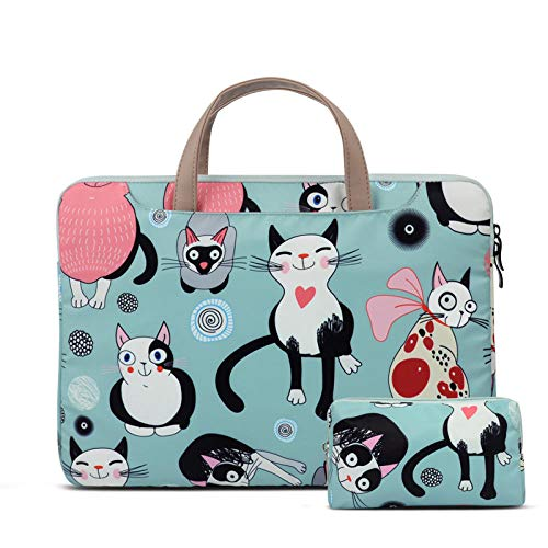 Yinghao Netbook Handtasche Laptop Tasche für MacBook Air 2018 Pro Retina 11 13 3 für Xiaomi 12 5 15 6 Cats Pattern Style Cute 2019-einstellen_13-14 Zoll