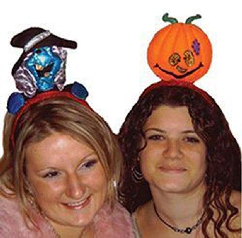 Mondial-fete - Serre Tête Tissu Halloween