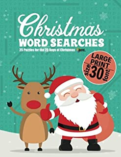 Christmas Word Searches (LARGE PRINT): 25 Puzzles for the 25 Days of Christmas