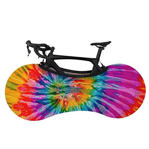 Cubierta para rueda de bicicleta de montaña, cubierta de almacenamiento para bicicleta, planeta, cielo, colorido, cubierta antisuciedad, cubierta protectora para bicicleta de montaña, a prueba de polvo, ropa de coche-D0525F1