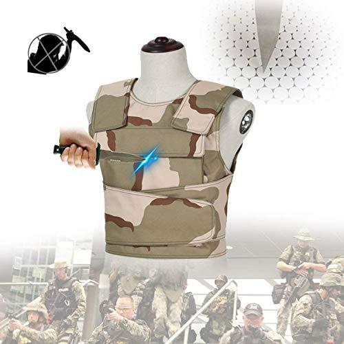 HUA JIE Stichschutzweste, Weiche unsichtbare Weste Zum Schutz Von Brust Und Rücken, Schnittschutzausrüstung Für Polizei, Sicherheit,XL