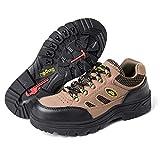Djpcvb Zapatos de Seguridad Calzado de Seguridad Calzado de construcción Industrial para Hombres Calzado de Acero de Desgaste Transpirable Calzado de Trabajo de Seguridad de Sitio (Size : 42)