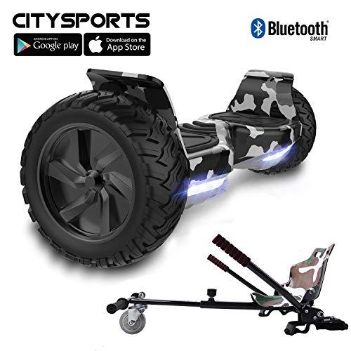 """CITYSPORTS Hoverboard Fuoristrada 8.5"""", Hoverboard Hummer SUV, Bluetooth e App, 700W"""