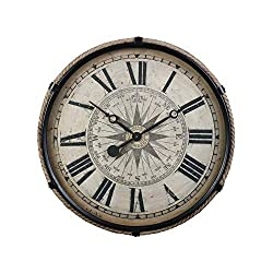 Pendulux, Derby Wall Clock, Home Decoration, Large, Black