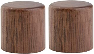 KAISH 2-Pack Wood Knobs Tele Style Flat Top Dome Knobs Guitar Bass Wood Knob Barrel Knobs Walnut Wood