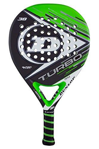 Dunlop Turbo SF–Racchetta de Paddle 38mm, 2017, Livello avanzato/Professionale, Colore: Verde/Grigio