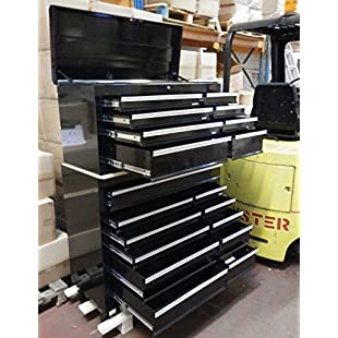 Dirty Pro ToolsTM PROFESSIONAL TOOL CHEST ROLLCAB TOP BOX WITH US BALL BEARING SLIDES GARAGE