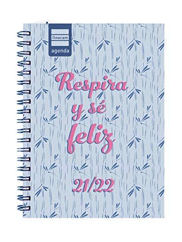 Finocam Agenda 2021 2022 Semana vista apaisada Septiembre 2021, Agosto 2022 12 meses 8º, 120x169 Mini-Institut Feliz Español