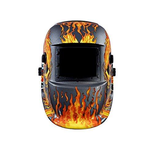 PowerWeld Welding Helmet Skull Flame