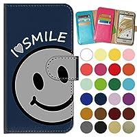 ガールズネオ apple iPhone 12 / iPhone 12 Pro ケース 手帳型 カメラ開口有 (I love SMILE/グレー) Apple iPhone12-PD-NVR-YSZ-0259