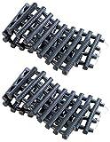 Lescars Anfahrtshilfe: 2er-Set Anfahrhilfe mit Tragetasche, 80 x 22 cm (Anfahrthilfe)