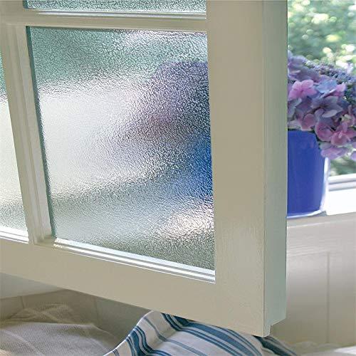 LMKJ Patrón de Agua de Lluvia película para Ventanas película Adhesiva estática Control de Calor 3D película de Vidrio Opaco Reutilizable extraíble A199 30x200cm