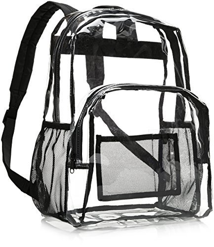 Amazon Basics - Mochila escolar - Transparente