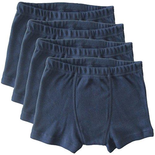 HERMKO 2900 4er Pack Jungen Pants - Reine Bio-Baumwolle, Farbe:Marine, Größe:116