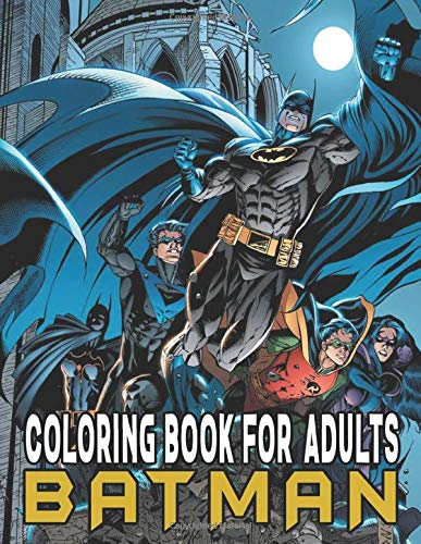 Batman Coloring Book: High Quality Images Of Batman Movies For Fan