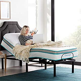 LINENSPA Adjustable Bed Base - Motorized Head and Foot Incline - Quick and Easy Assembly–Twin XL