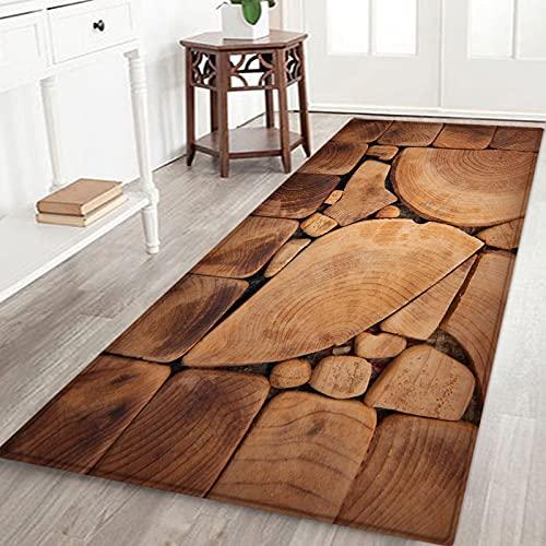 OPLJ Alfombrillas de Cocina de Grano de Madera alfombras de Cocina Antideslizantes absorbentes alfombras de Puerta Alfombrillas de decoración para el hogar Alfombrillas de Puerta Lavables A2 40x120cm