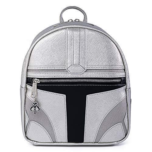 Funko Loungefly: Star Wars - The Mandalorian Helmet, Mini Cosplay Backpack, Amazon Exclusive