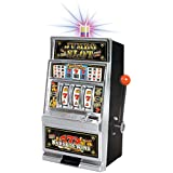 Liberty Imports Lucky Sevens Jumbo Slot Machine Casino Toy Piggy Bank Replica with Flashing Lights and Jackpot Sounds