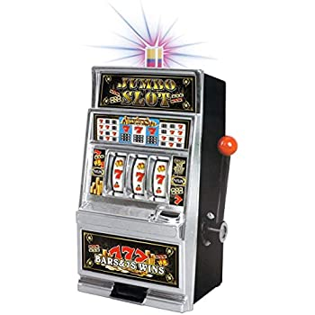 Lucky Sevens Jumbo Slot Machine Casino Toy Piggy Bank Replica with Flashing Lights and Jackpot Sounds
