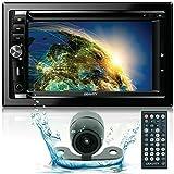 Gravity CAR Audio Double DIN 6.2' Touchscreen DVD CD AM FM USB SD Bluetooth +CAM