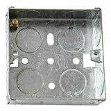 Bulk Hardware BH04061 Scatola Metallica da Montaggio a Parete per Placche Interruttori e Prese Elettriche, 1 Posizione, profondità 47 Mm, Bianco