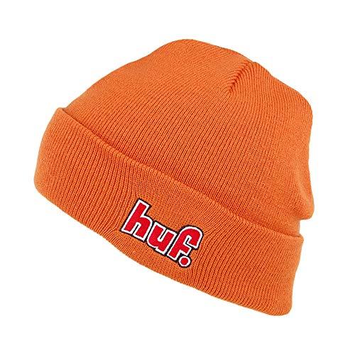 HUF 1993 Logo Beanie Mütze - Verbranntes Orange - One Size