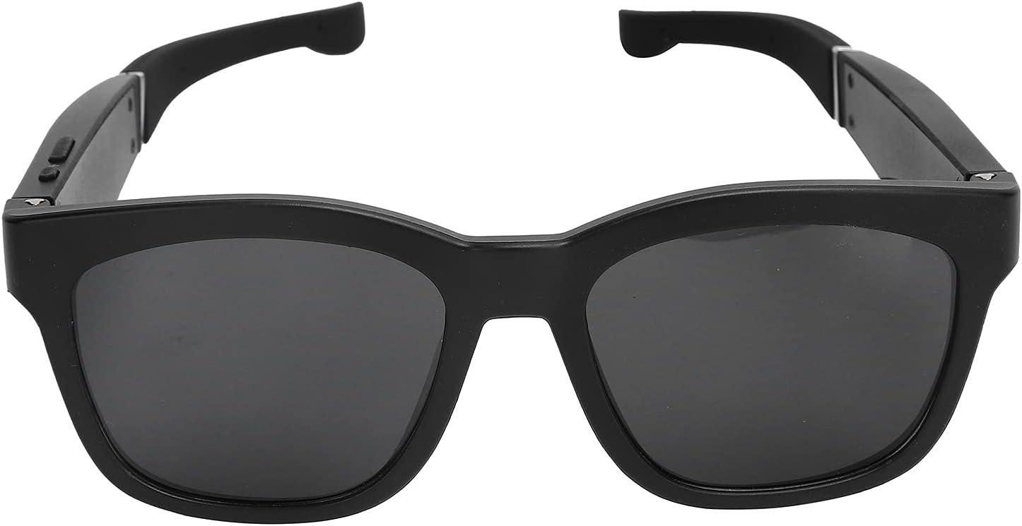 Bluetooth Glasses Smart Wireless Call Glasses with Semi‑Open Stereo Waterproof Speakers Bluetooth Headphone Glasses, Black