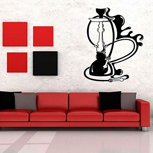 Etiqueta de la pared Pot Bar Wall Vinyl Art Deco Wall Decal Salón Humo Patrón de relajación