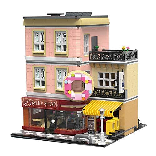 KEAYO Bloques de construcción para casa, 2919 piezas, panadería modular, juego de construcción de maquetas, arquitectura de 3 pisos, bloques de sujeción, edificio modelo compatible con casa Lego