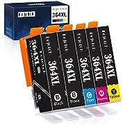 Eejetch Kompatibel 364XL Patronen Ersatz für HP 364 Druckerpatronen arbeiten mit HP Photosmart 5510 5520 5522 5524 6520 7520 b8550 b209a b110a c309 3520, HP Officejet 4620, HP Deskjet 3070A 3520