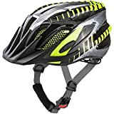 ALPINA FB JR. 2.0 Fahrradhelm, Kinder, black-steelgrey-neon, 50-55
