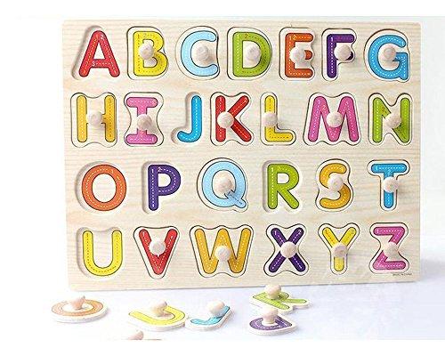 Letra Mayuscula De Madera En Forma De Puzzle Paridad Del Nino Del Juguete De Ninos En Edad Preescolar