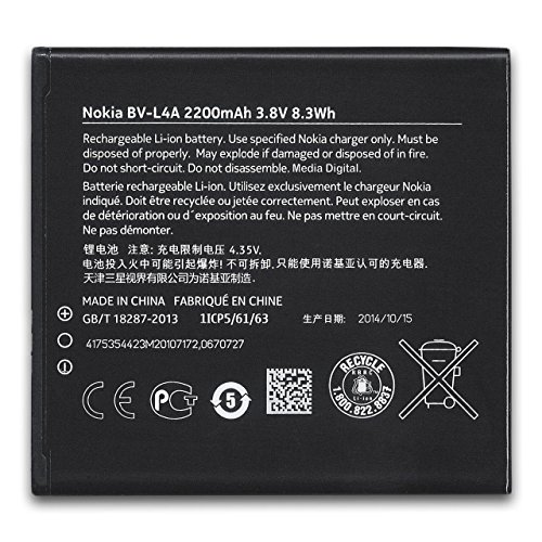 Nokia BV l4a–Batterie per il cellulare Ioni di Litio 2200mAh–per Lumia 830(BV l4a)