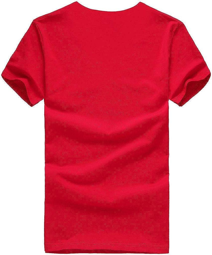 hositor Summer Tops for Women Womens Simple Fashion O-Neck Pineapple Print Short-Sleeved T-Shirt