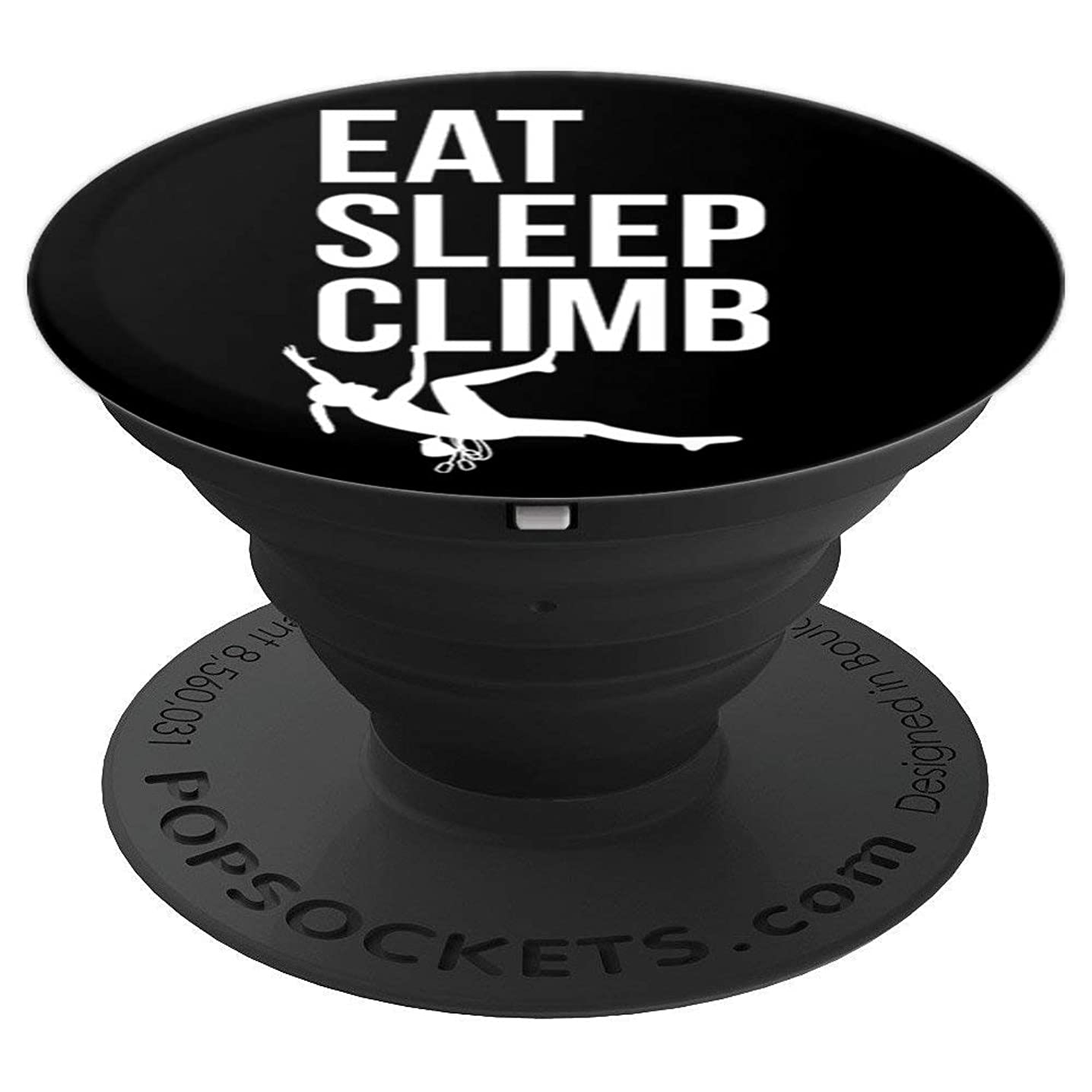 Eat Sleep Climb Rock Climber White Black Climbing Girl Gift - PopSockets Grip and Stand for Phones and Tablets