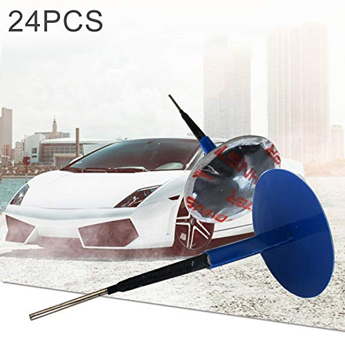 Kit zum Entfernen der Fahrzeugverkleidung 4mm Pilz Nail-Reifen Film Reifenkalt Patch-Film Gummireifenreparatursatz 24 PC