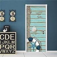ドアステッカー ドア自己接着壁紙のホームインテリアアートでカスタムサイズのドアステッカーのためにリビングルームのベッドルームPVC防水ステッカー (Color : SD001, Sticker Size : 95x215cm)