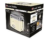 Russell Hobbs 21682-56 Toaster Retro Vintage Cream, Retro Countdown-Anzeige, Schnell-Toast-Technologie, 1300 Watt, creme - 2