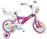 EDEN-BIKES Princesa Disney Bicicleta Infantil, Multicolor, 14'